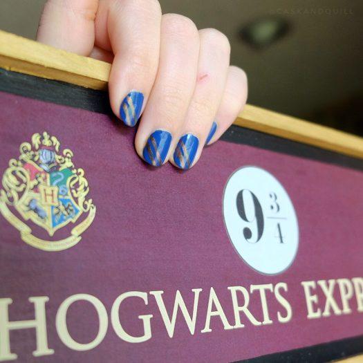 Harry Potter Ravenclaw Nails, Hogwarts Express sign