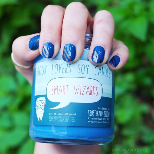 Ravenclaw house nails for Harry Potter anniversary