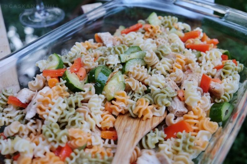 vegetable chicken pasta salad