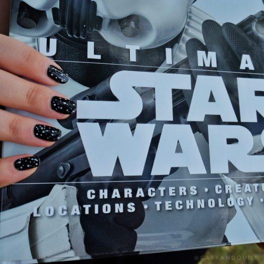 Star Wars sci-fi space nail design
