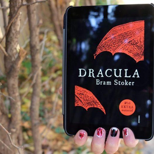 Dracula fang and blood nail art