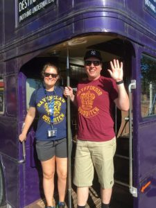 Anna and Nick on the Knight Bus