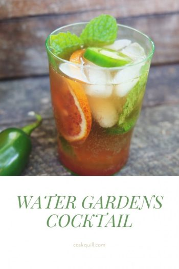 Water Gardens inspired cocktail from Game of Thrones