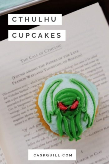 Cthulhu inspired cupcakes design