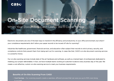 On-Site Document Scanning
