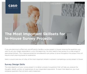 Survey Skillsets