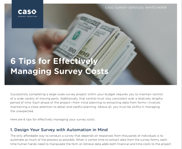 White Paper: Managing Survey Costs