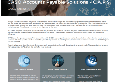 CASO Accounts Payable Solutions – C.A.P.S