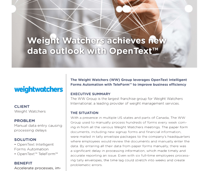 Intelligent Forms Weight Watchers Case Study