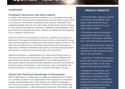 OpenText TeleForm Data Sheet