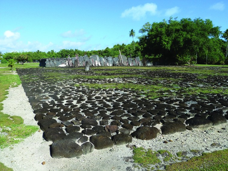 Taputapuatea: Vue du Marae Taputapuatea