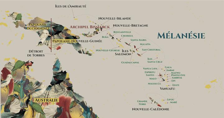 carte mélanésie