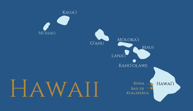 Carte Hawaii Clémentine