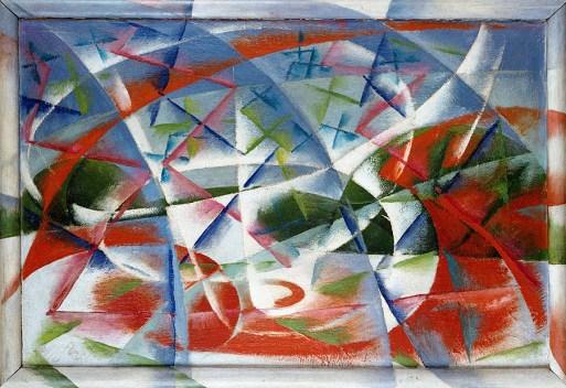 abstract speed + sound (velocità astratta + rumore) Balla 1913-14