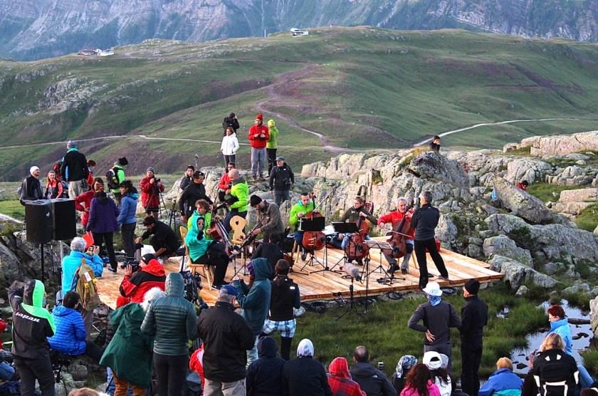 Vor dem Konzert SuonidelleDolomiti