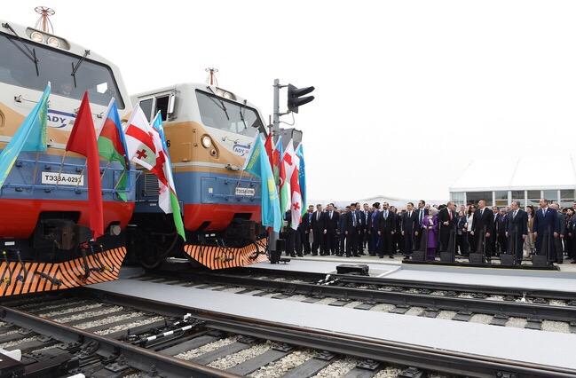 Состоялась церемония открытия магистрали Баку-Тбилиси-Карс