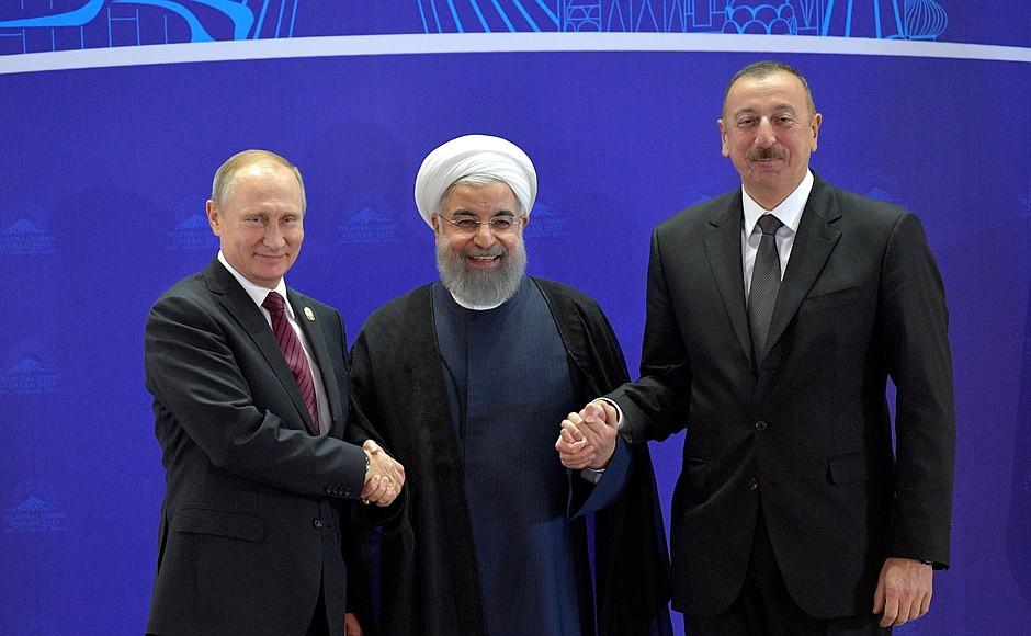 О результатах трехсторонней встречи глав России, Ирана и Азербайджана