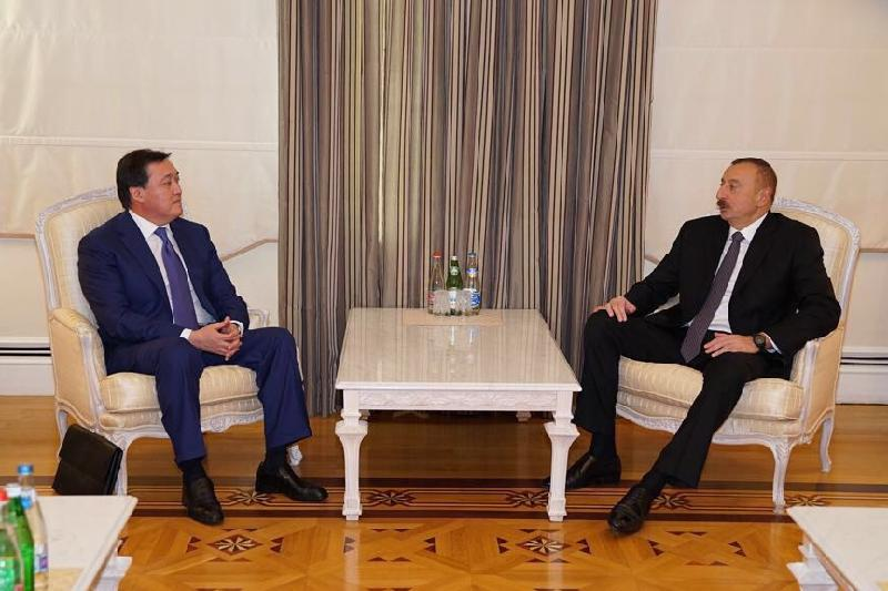 Аскар Мамин встретился в Баку с Президентом Азербайджана
