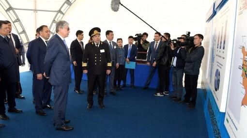 Президент Казахстана посетил прикаспийский регион страны
