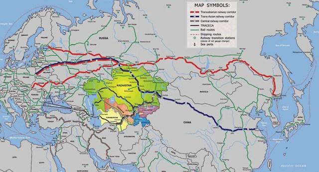 Незаменимая держава. «Стальные коридоры» Евразии и роль России |  «Каспийский вестник»