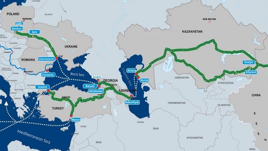 Транскаспийский коридор из Китая протянут в Австрию и Голландию