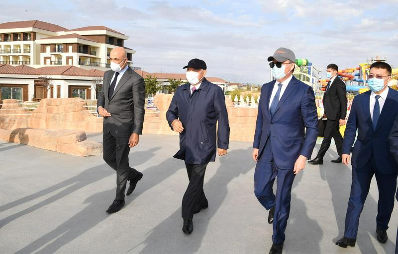Назарбаеву представили проект туристического хаба на берегу Каспия