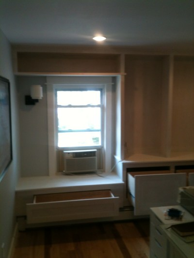 Custom Bookcase and Window Seat Built-In   Casper and Company