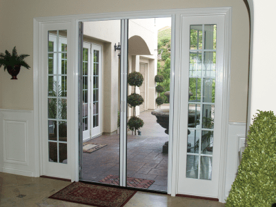 Casper Double Retractable Screen Doors Work Great on Patio Double French Doors