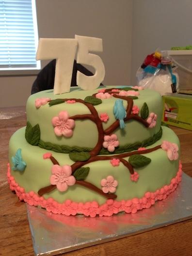 Happy 75th Birthday Cake