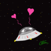 Cute Spaceship Icon