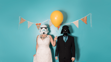 A long long time ago in a galaxy far away, an anniversary portrait happened.