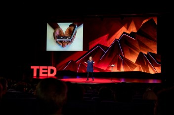 speaks at TEDSummit: A Community Beyond Borders. July 21-25, 2019, Edinburgh, Scotland. Photo: Dian Lofton / TED