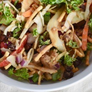 Easiest Thai Salad with Peanut Sauce and Chickpeas