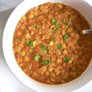 Bowl of Vegan Dal Tadka