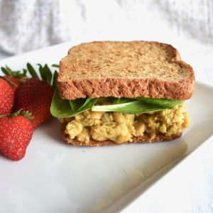 easy vegan chickpea salad sandwich