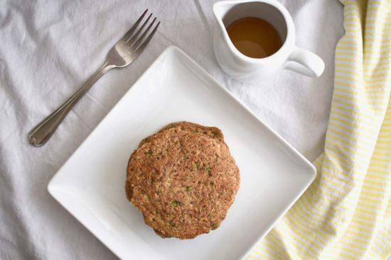 Healthy Oatmeal Zucchini Pancakes, vegan, gluten free