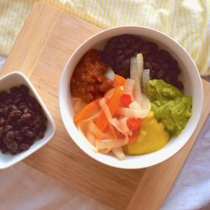 vegan qdoba burrito bowl