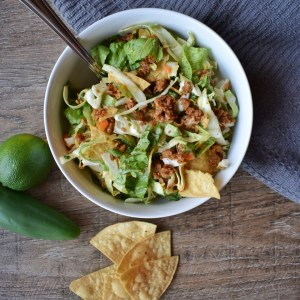 Vegan Taco Salad with Chipotle Dressing