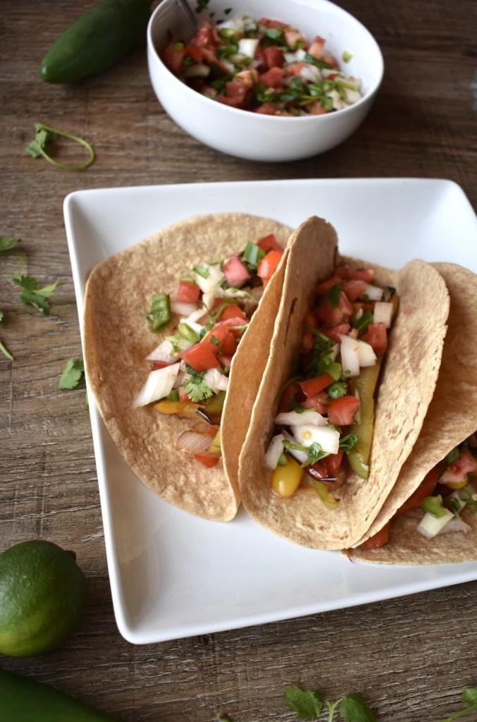 delicious veggie fajita tacos