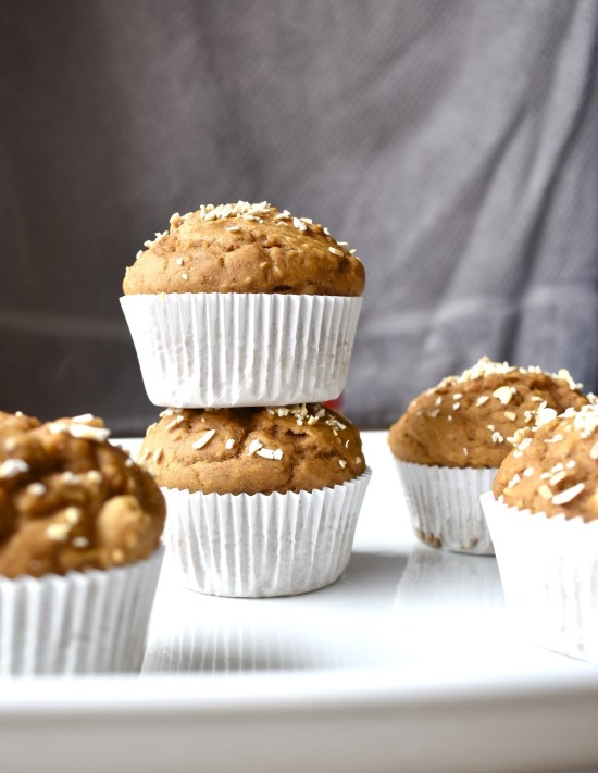 oil free vegan pumpkin muffins