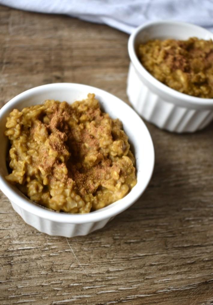 microwave vegan pumpkin oatmeal