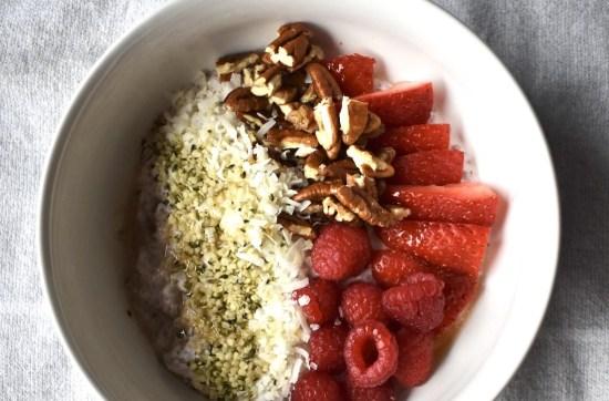 plant based strawberry coconut chia pudding