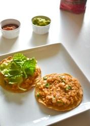 easy vegan chickpea tostadas