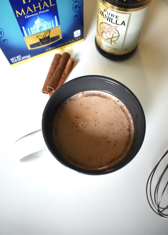 cinnamon dolce black tea latte