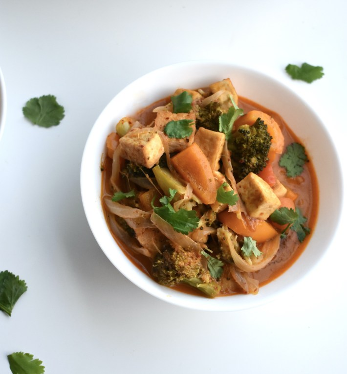 tofu mixed veg masaman curry