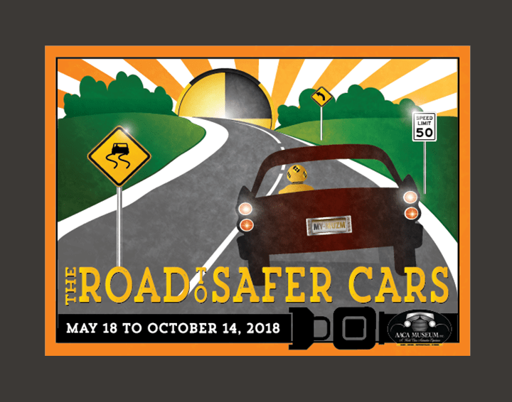 "AACA Museum ""The Road to Safer Cars"" exhibit logo"