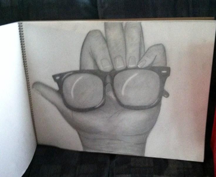 Pencil- Larger than life Hand drawing