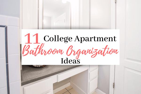 11 College Apartment Bathroom Organization Ideas | Best College Apartment Organization Ideas