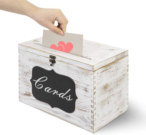 card box for an outdoor graduation party