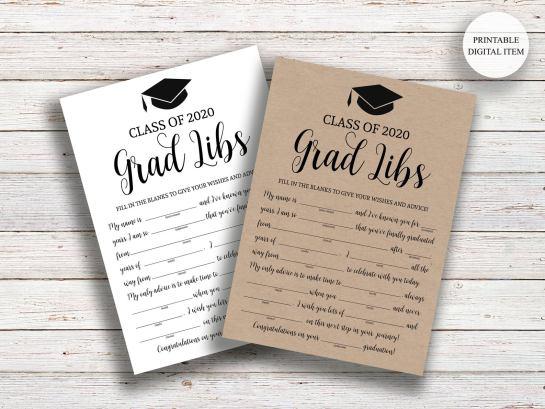 grad libs graduation party activities